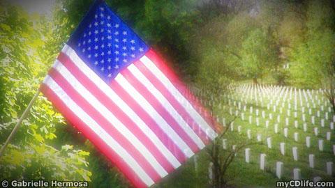 U.S. Flag and Arlington National Cemetery
