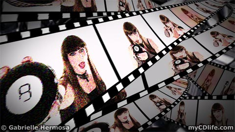 Gabrielle's Magic 8 Ball Video film strip