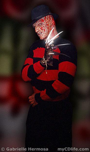 Gabe as Freddy Krueger