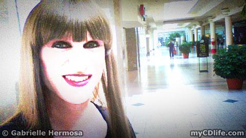 Gabrielle in mall