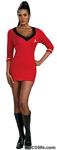 red female Star Trek uniform