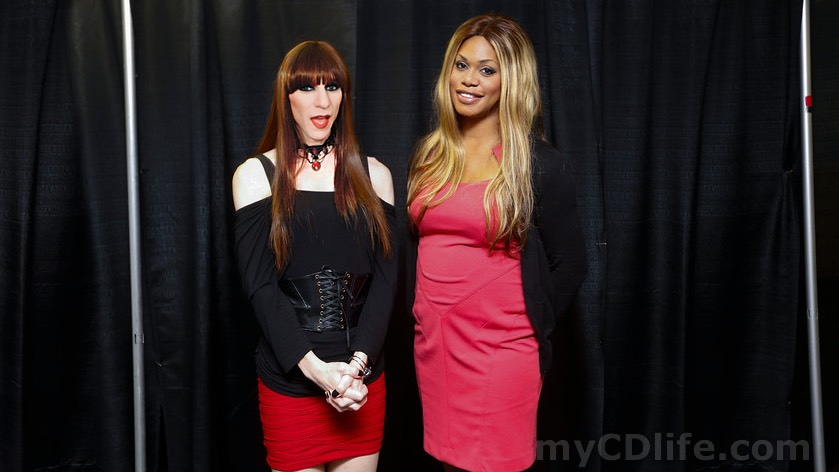 Gabrielle and Laverne Cox on October 18, 2014
