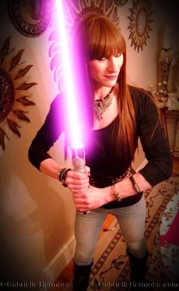 Gabrielle's light saber